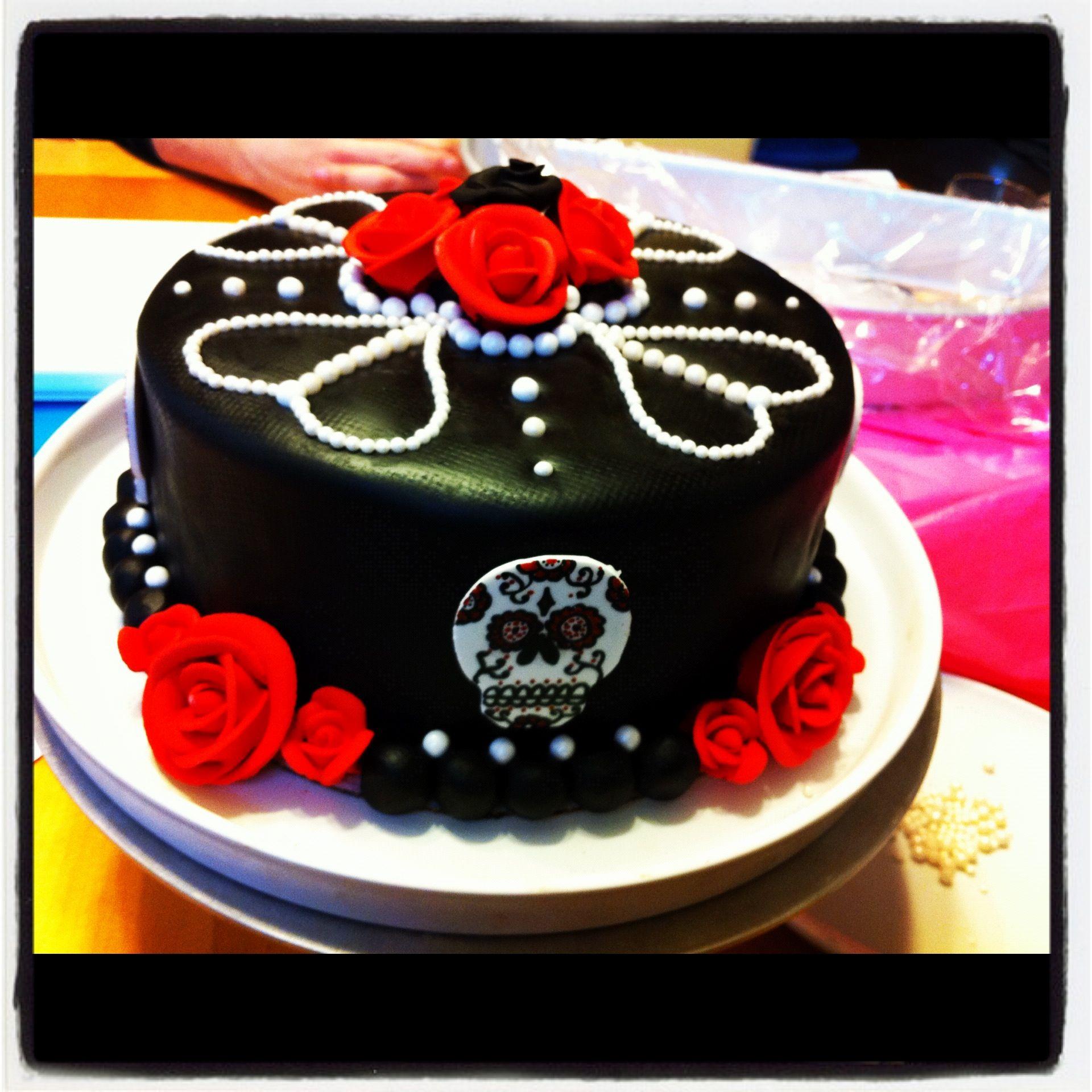 Dia De Los Muertos Wedding Theme Ideas: Dia De Los Muertos Birthday Cake