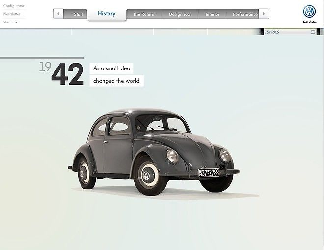 Volkswagen Beetle Showcase Website Volkswagen Beetle Web Design Gallery Volkswagen