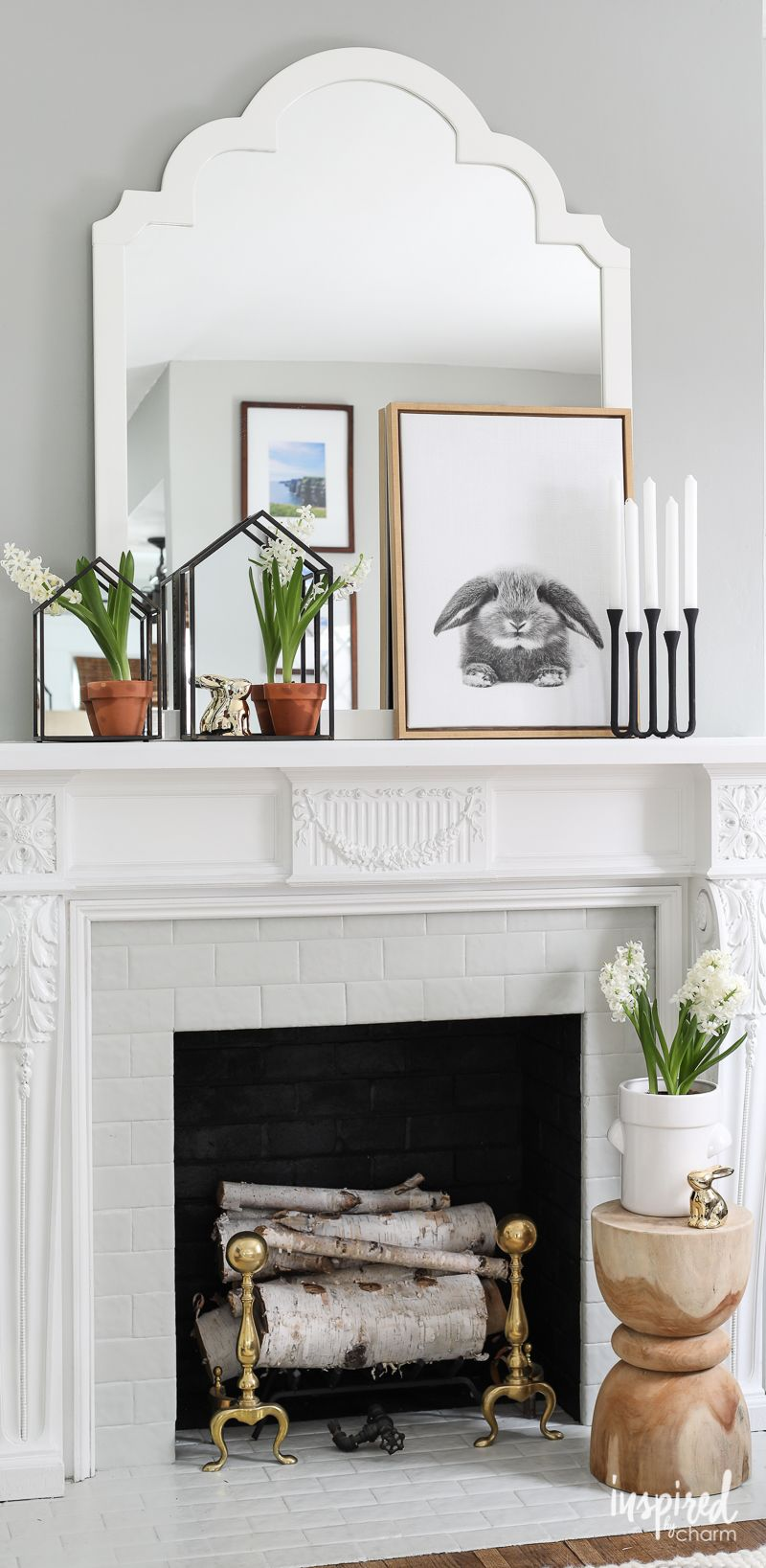 Welcome Spring with a Nature-Inspired Mantel | Mantels decor ...