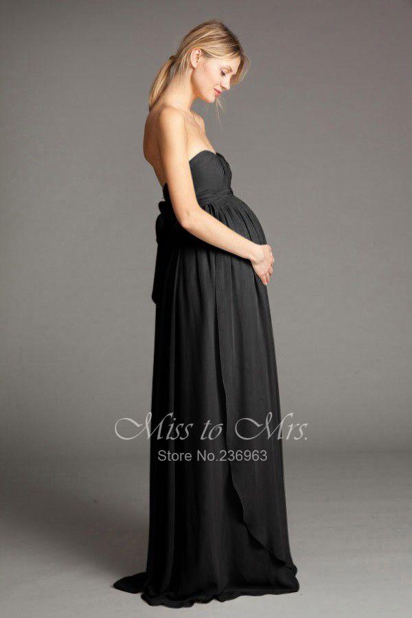 3516ac9dabca9 Long black maternity bridesmaid dress   Upcoming Wedding-paloozas ...