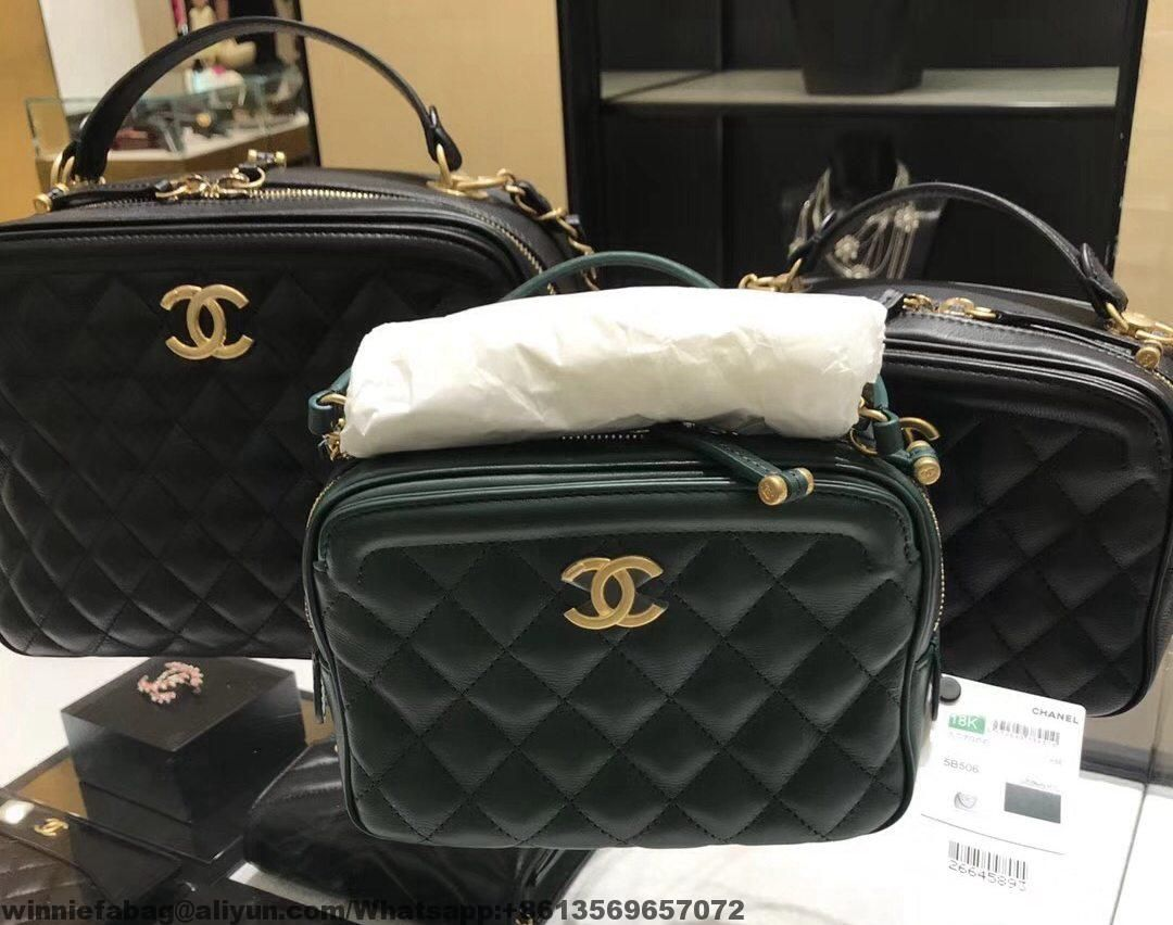 6557b84bc908 Chanel Calfskin CC Vanity Case A57905/A57906 | Chanel | Chanel, Bags ...