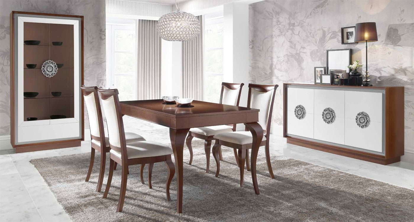 Mobiliario de salón comedor estilo clásico madera - haya | Mesa de ...