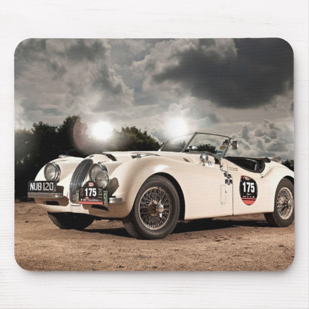 Vintage Classic Jaguar Car Mouse Pad | Zazzle.com