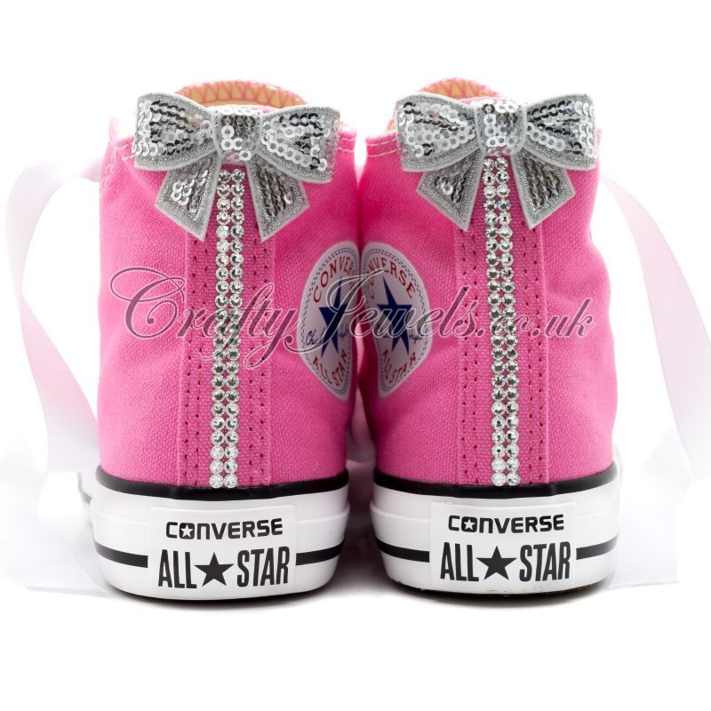 ... 571bf 54628 Swarovski Crystal Kids Hi Top Converse In Pink buy best ... bbc3a3cdf
