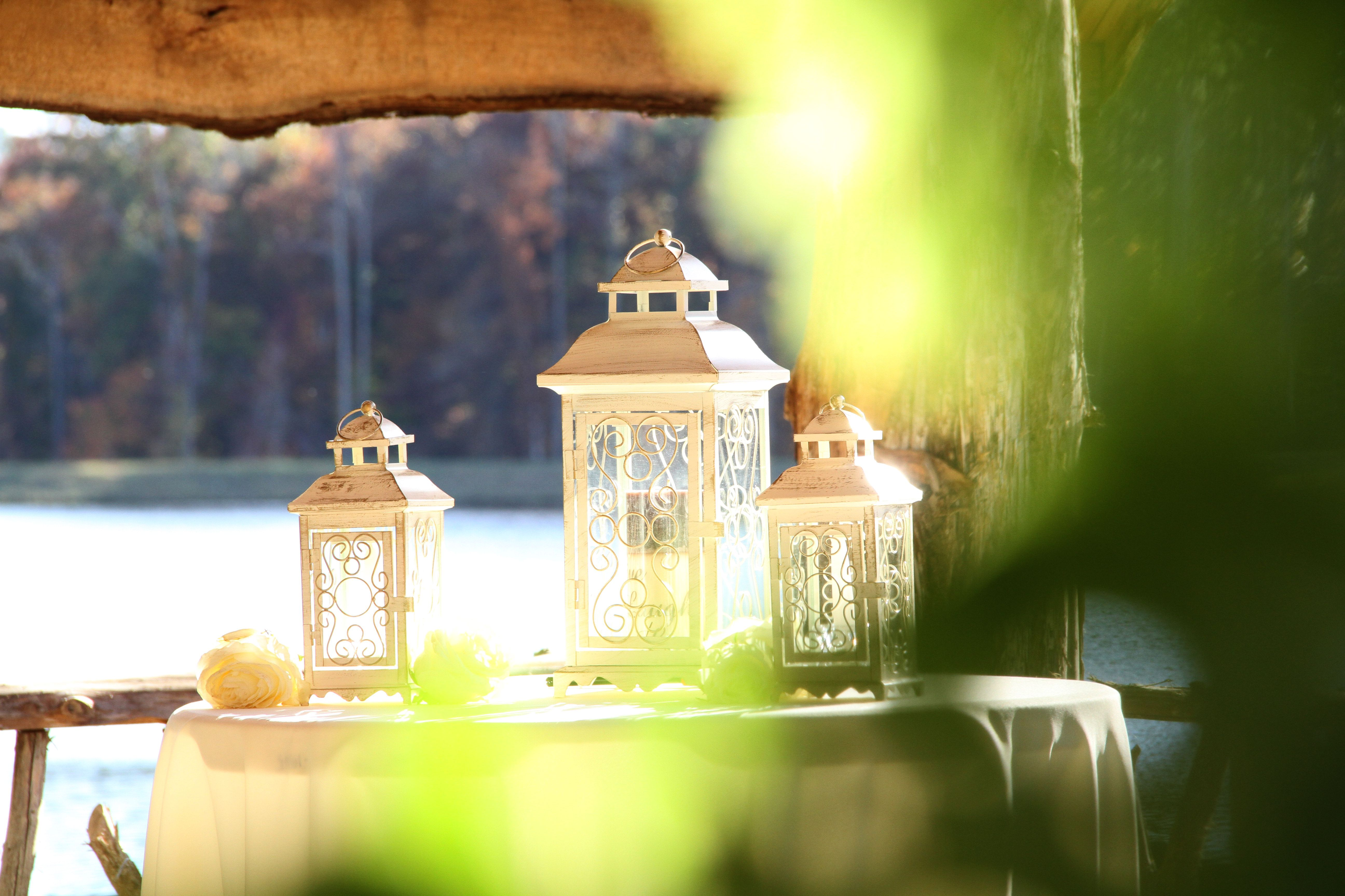 Outdoor Unity Candle Idea. Lanterns To Protect The Flame