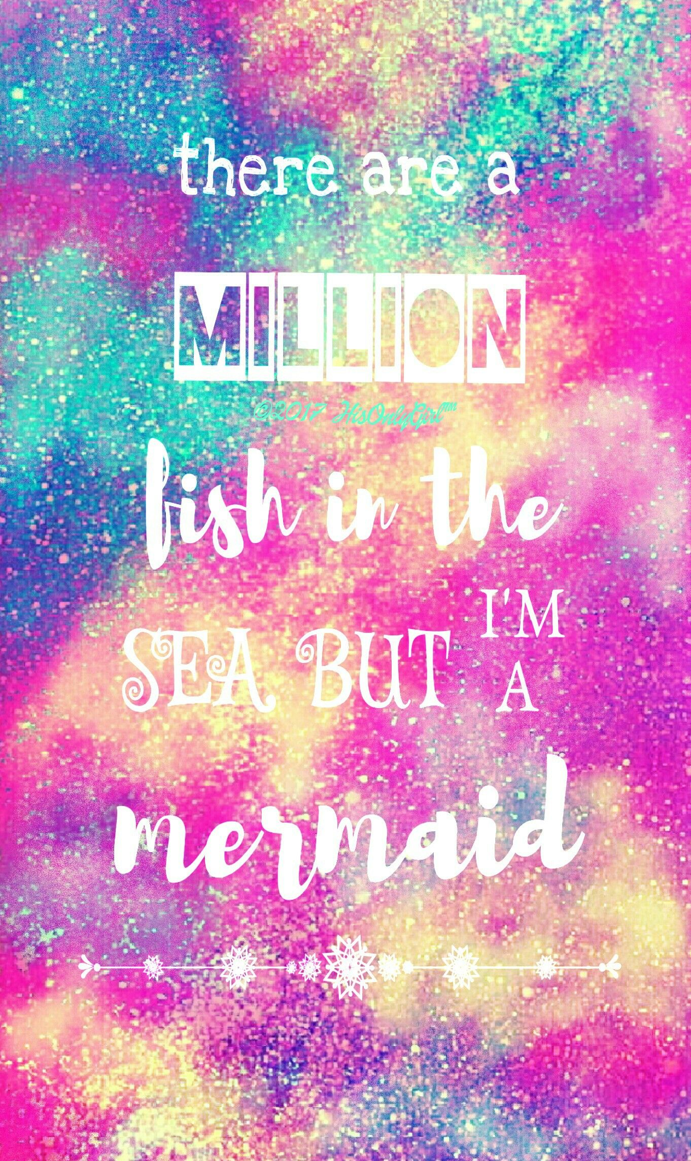 Cute Wallpapers Cocoppa Mermaid Glitter Galaxy Wallpaper I Created For The App
