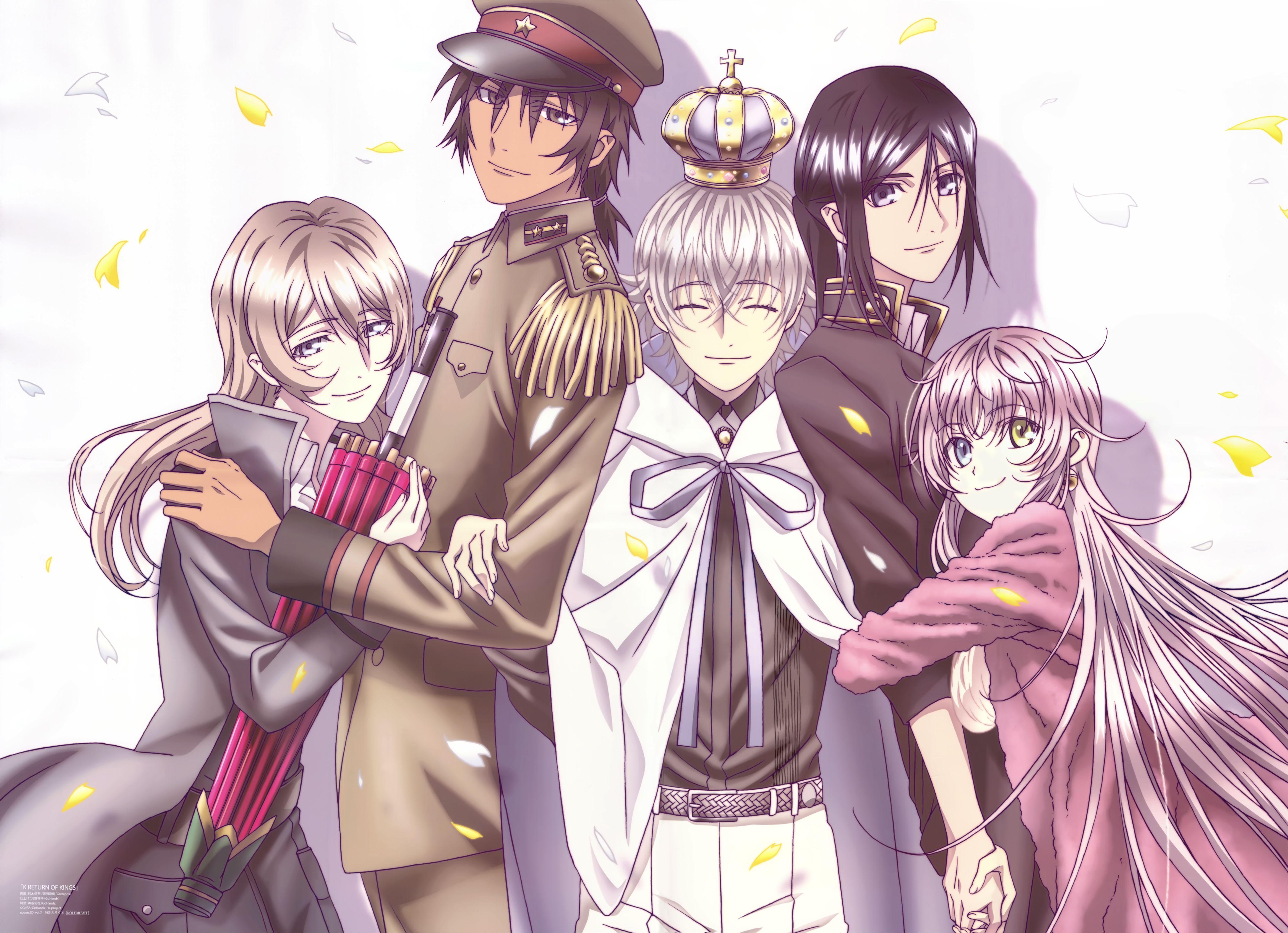 Buy athah anime k project kuroh yatogami neko yashiro isana adolf k. Download K Project (4750x3442) | K project anime, K ...