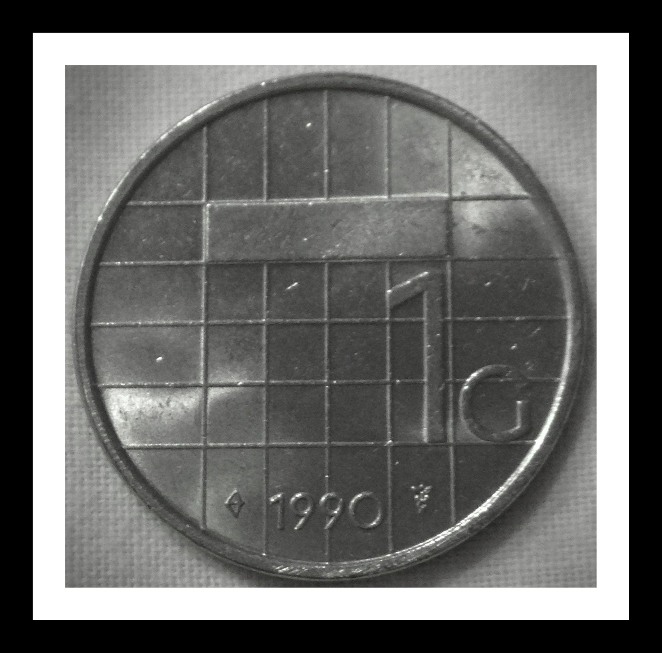 Netherlands 1 Guilder 1990 Condition F The Guilder Was Hollands