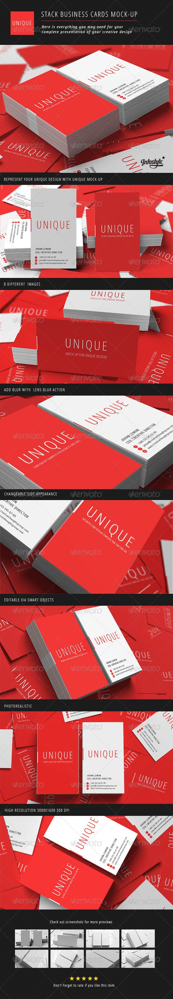 Stack business cards mock up business cards mockup and vertical stack business cards mock up modern paper photorealistic available here reheart Image collections