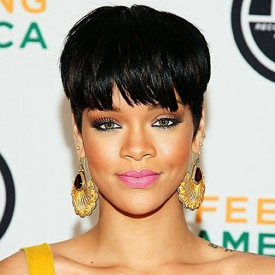 Rihanna Mushroom Haircut Hair Pinterest Rihanna Haircuts And