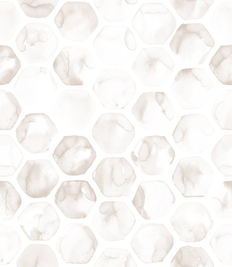 Linen Colored Honeycomb Wallpaper Modern Removable Self Adhesive Peel And Stick Wallpaper Accent Wall Available In Many Colors Peel And Stick Wallpaper Honeycomb Wallpaper Minimal Wallpaper