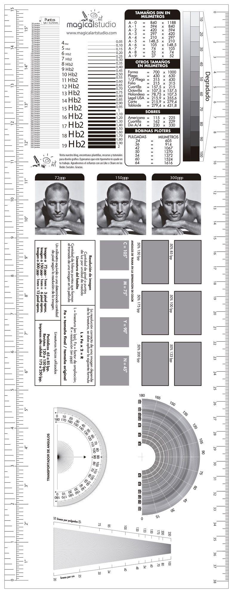 Descargar Plantilla Tipómetro y Lineómetro Gratis Illustrator | t ...