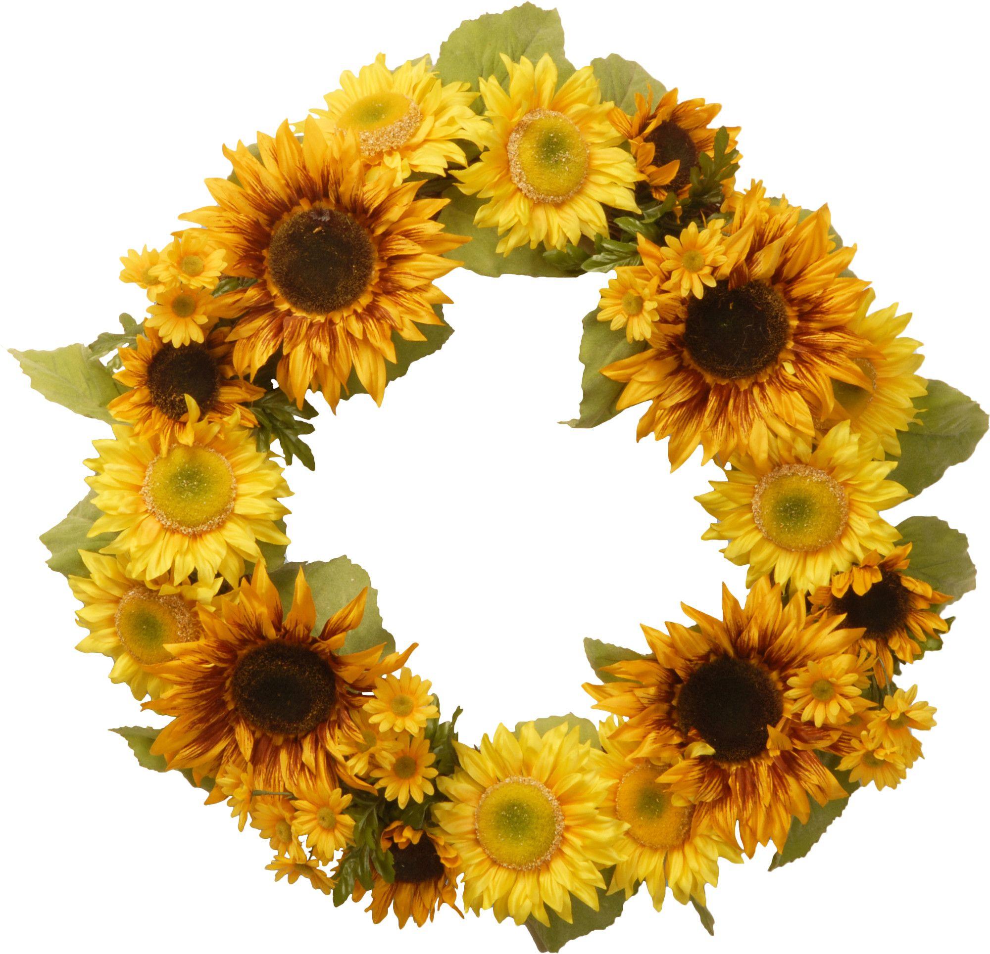 Faux Sunflower Wreath