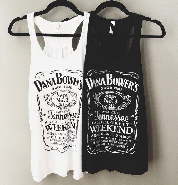 fbb1e2ac Custom Jack Daniels Bachelorette Party Tank Top or by danambower ...