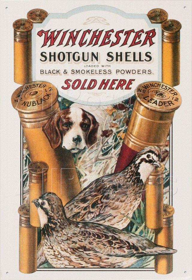 Winchester Ammunition Hunting Gun Vintage Style Round Metal Sign