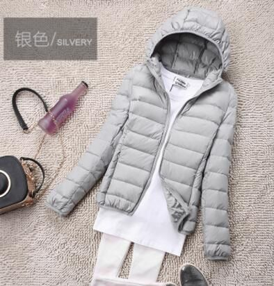 Winter Plus Size 4XL Womens Down Jackets Short Ultra Light Coat