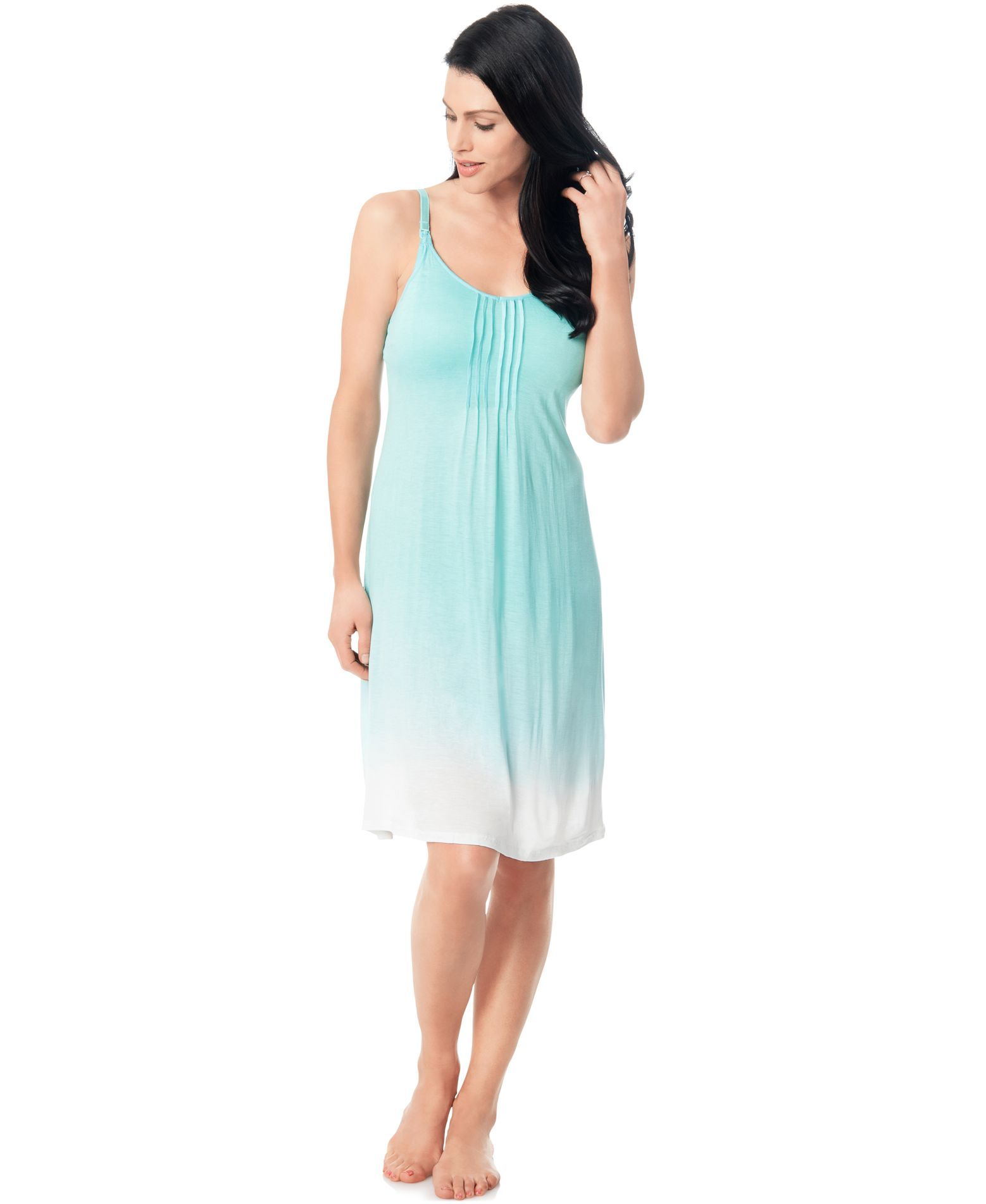 Bump In The Night Maternity Ombre Nursing Nightgown | Products ...