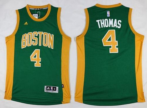 ... Mens Boston Celtics 4 Isaiah Thomas Revolution 30 Swingman New Green  With Gold Jersey ... 9d0d8bdfe