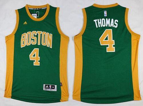 Men s Boston Celtics  4 Isaiah Thomas Revolution 30 Swingman New Green With  Gold Jersey 716fa55f8