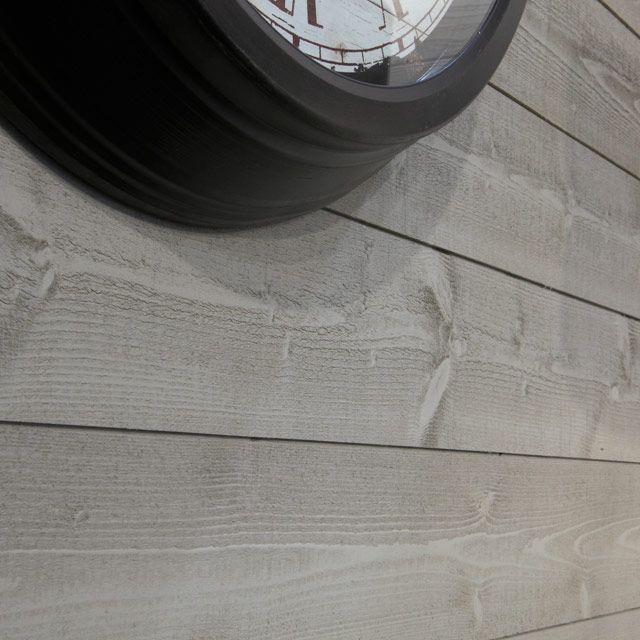 Lambris Sapin bds Béton 12x135 cm (vendu à la botte) Murs de