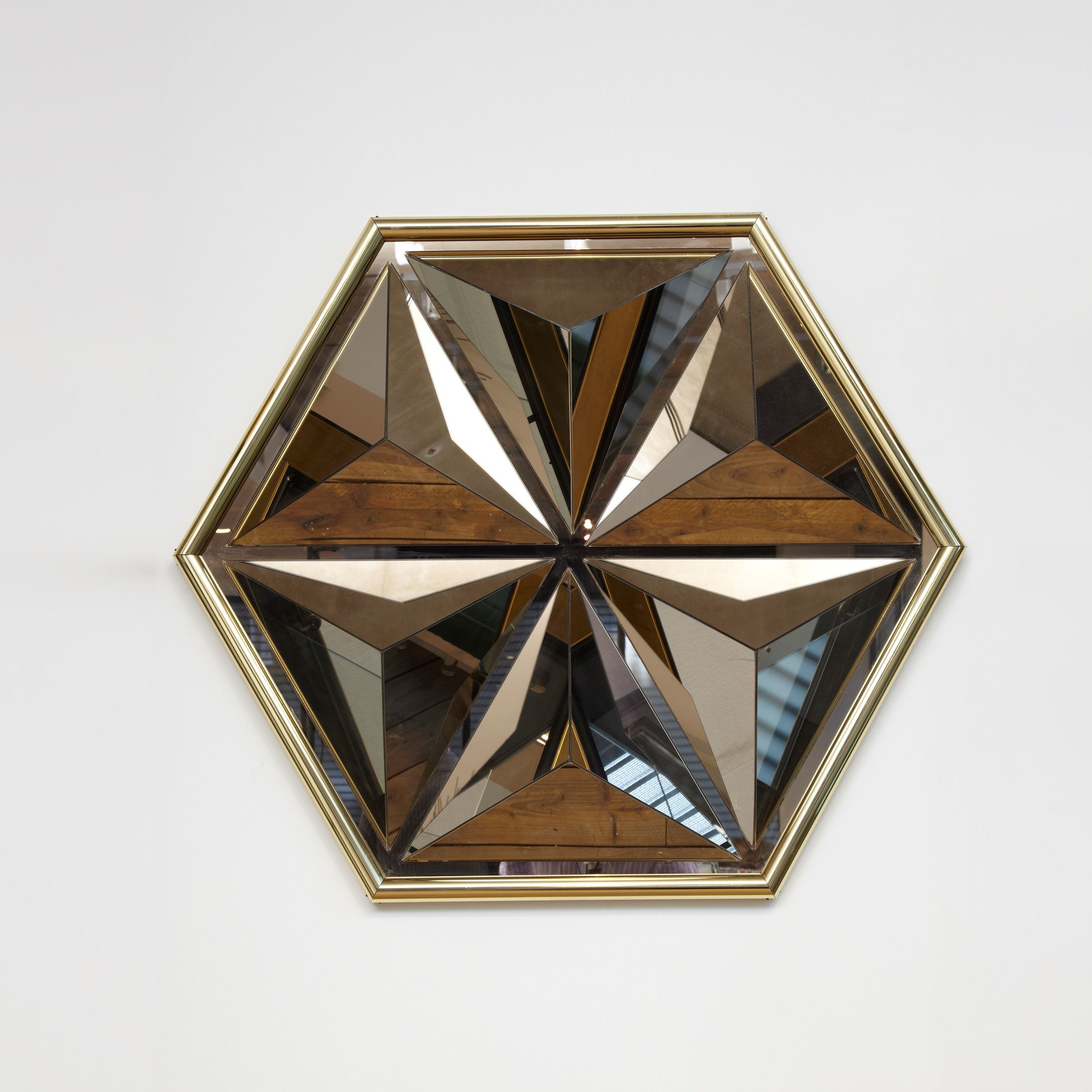 Multi Faceted Mirror Wall Sculpture