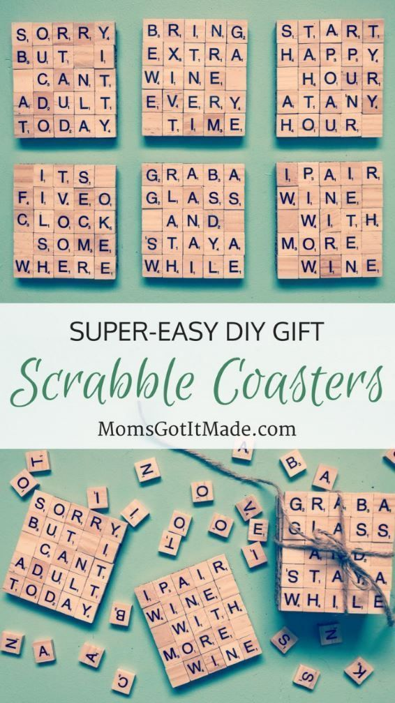 Easy diy scrabble coaster gift crafts for hobos - Scrabble decoracion ...