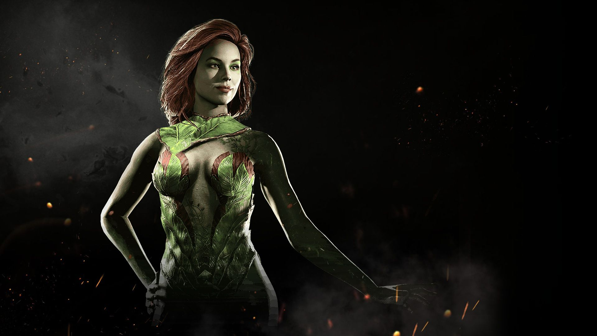 Awesome Poison Ivy Injustice 2 Game 1920x1080 Of Wallpaper
