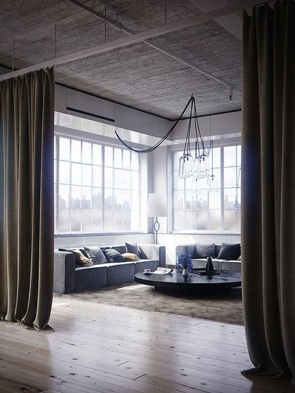 15 Easy And Amazing Curtains Room Dividers With Images Loft