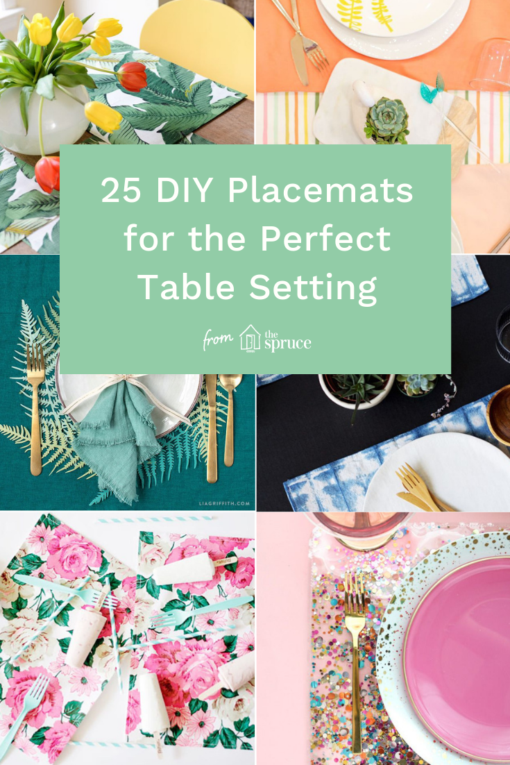 24 Diy Placemats For The Perfect Table Setting Diy Placemats