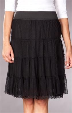 DownEast Can Can Skirt $33. Love the gathered tulle and lace.