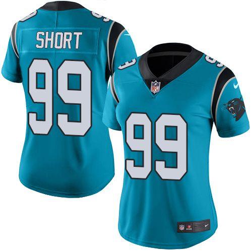 Women's Nike Carolina Panthers #99 Kawann Short Limited Blue Color Rush NFL  Jersey high replicas