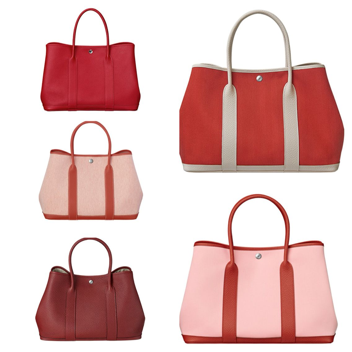 Hermes garden party bag in beautiful shades of red  c2a8892532c75