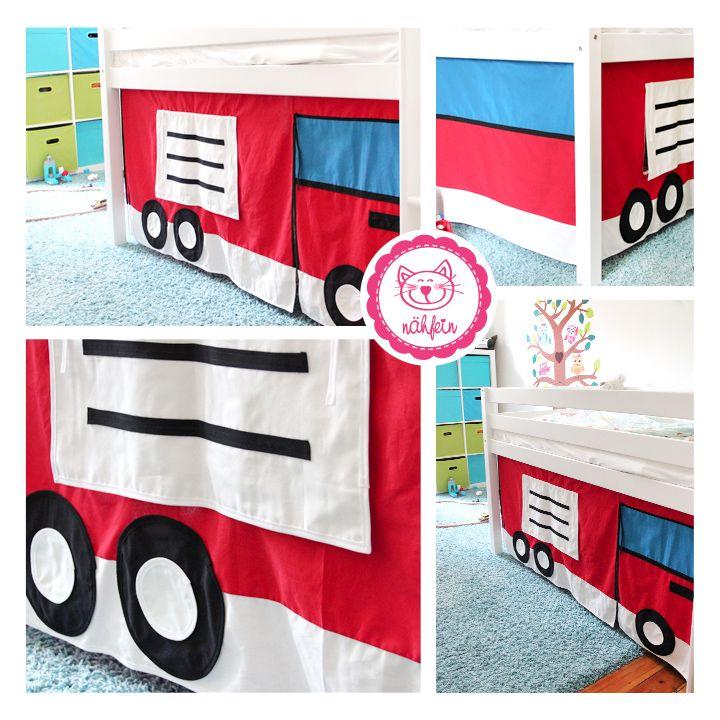 Coller Feuerwehrvorhang Fürs Kinderbett