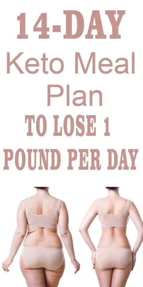 14-Day Keto Meal Plan To Lose 1 Pound Per Day