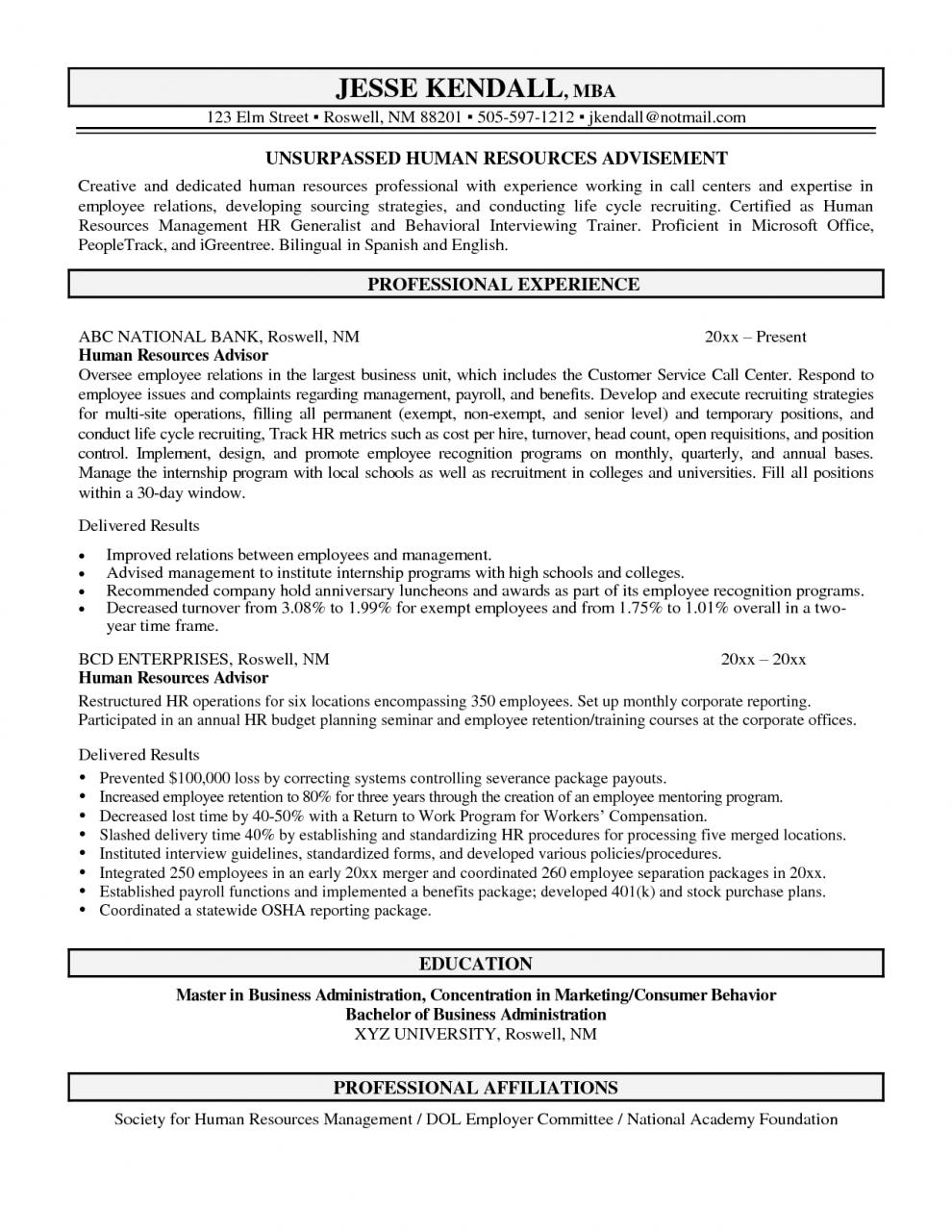 Letter Cover Job Application Template For Human Resources Resume