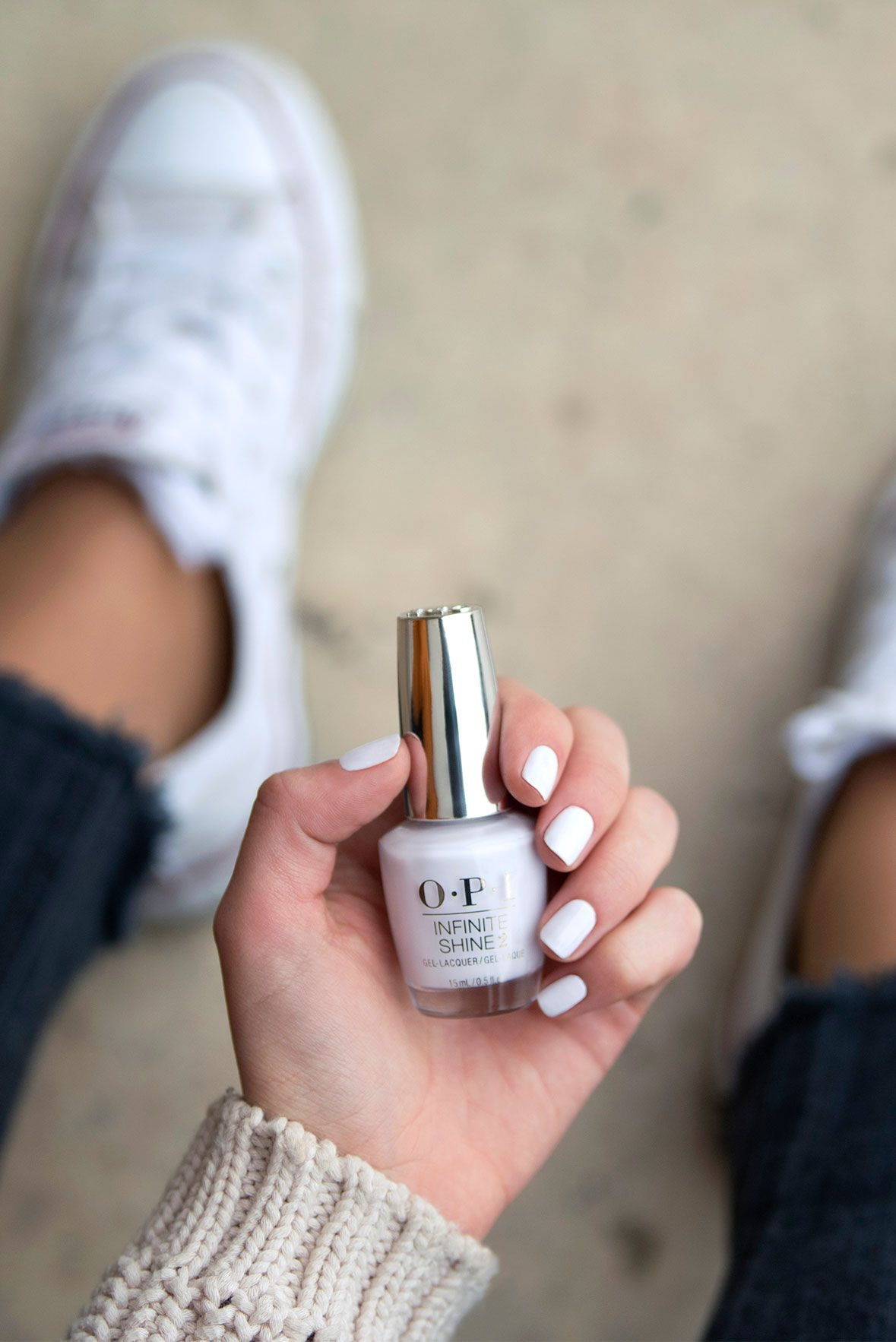 "Opi White Gel Nail Polish: This White Travels Well ""Suzi Chases Portu-geese"" In"