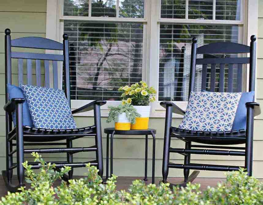 Porch Rocking Chair Cushions Porch Table And Chairs Porch