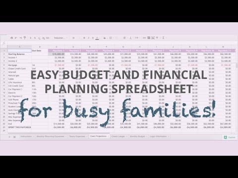 Easy Budget and Financial Planning Spreadsheet for Busy Families