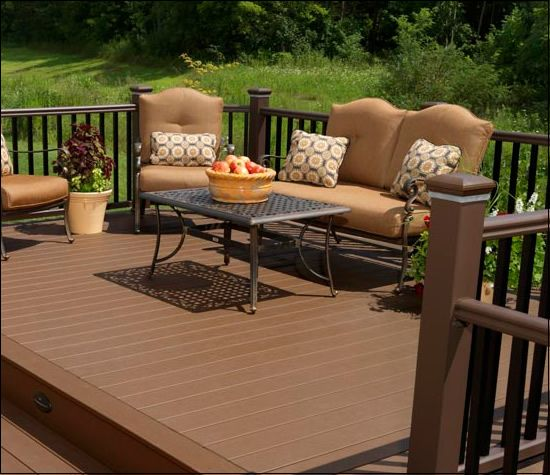 Best Timbertech® Natural® Deck Boards Deck Color Brownstone 400 x 300