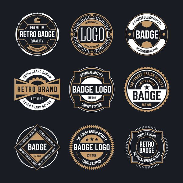 free eps file retro badge template vectors 02 download name retro