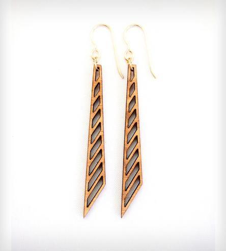 Half Chevron Laser Cut Earrings | Folia Design SF | Scoutmob Shoppe | #hearthandmade