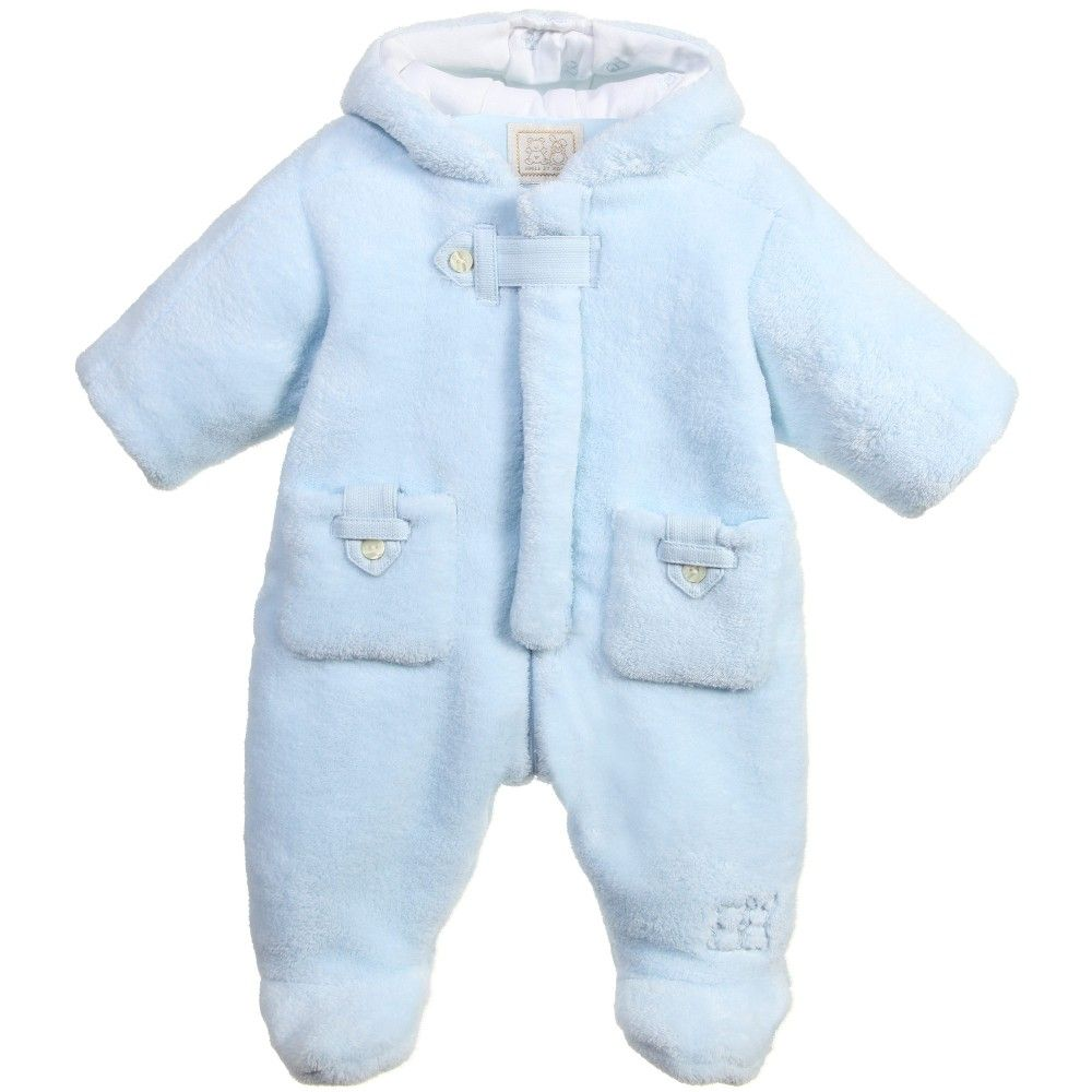 d7f0c66dde49 Baby Boys Pale Blue Fleece  Fargo  Pramsuit