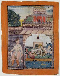 Lalita  Ragini. Marwar, Rajput, India ca. 160  ragamala painting
