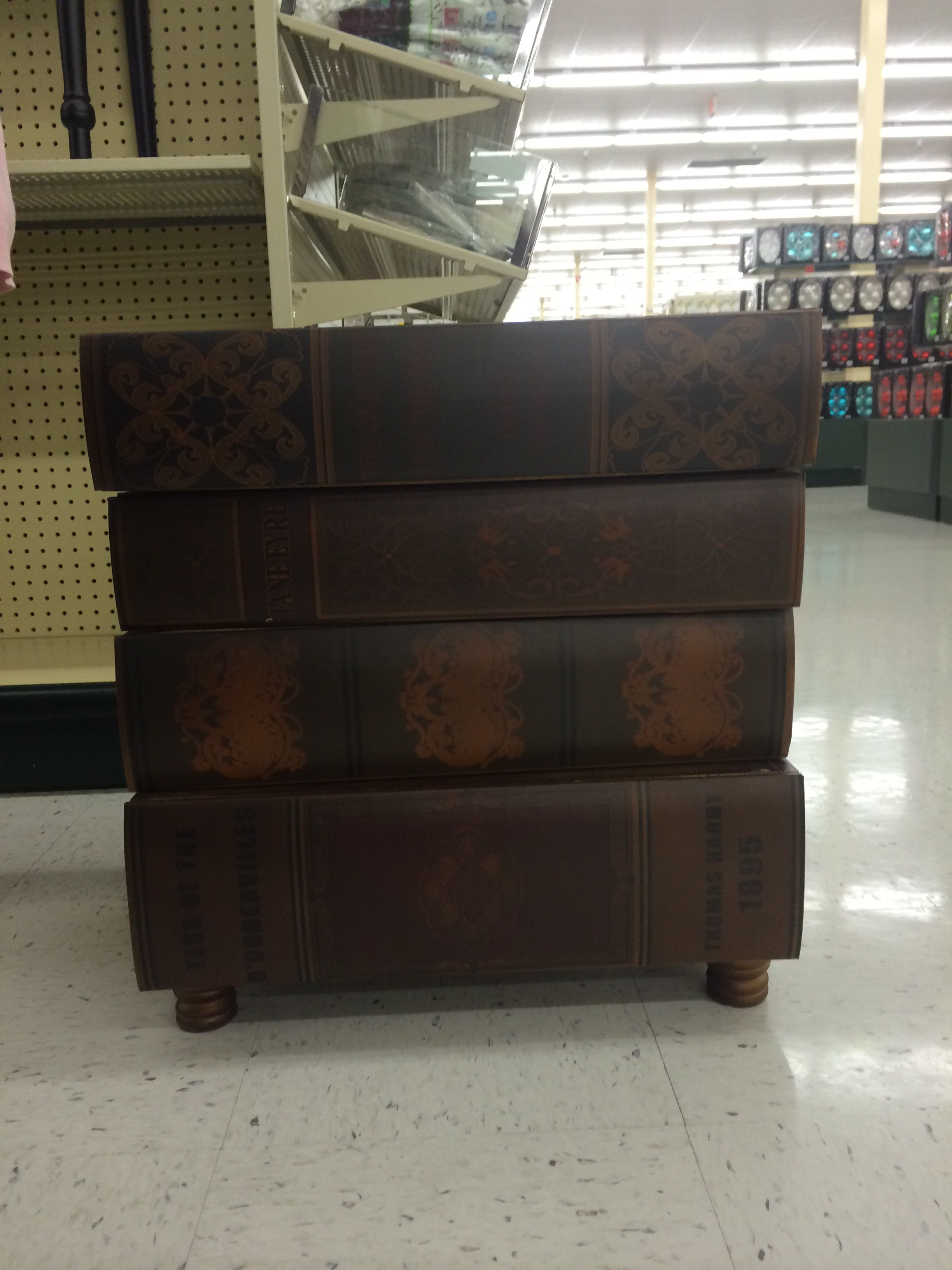 Hobby Lobby Stack Of Books Side Table Each Book Is A Drawer