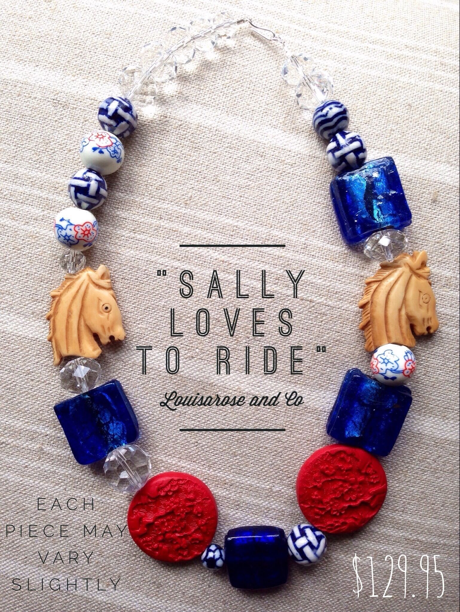 """""""Sally Loves to Ride"""" $129.95 www.louisaroseandco.com.au Louisarose and Co"""
