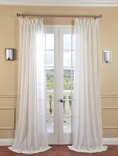 Half Price Drapes Gardenia Faux Linen Sheer Curtain  , #HalfPriceDrapes  , #LinenSheerCurtain
