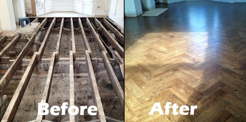 Stoke Newington Installation of new floors - Gallery of Wood Flooring Projects - BSI Flooring