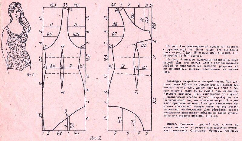 Free Vintage Swimsuit / Bathing Suit Sewing Draft Pattern | sewing ...