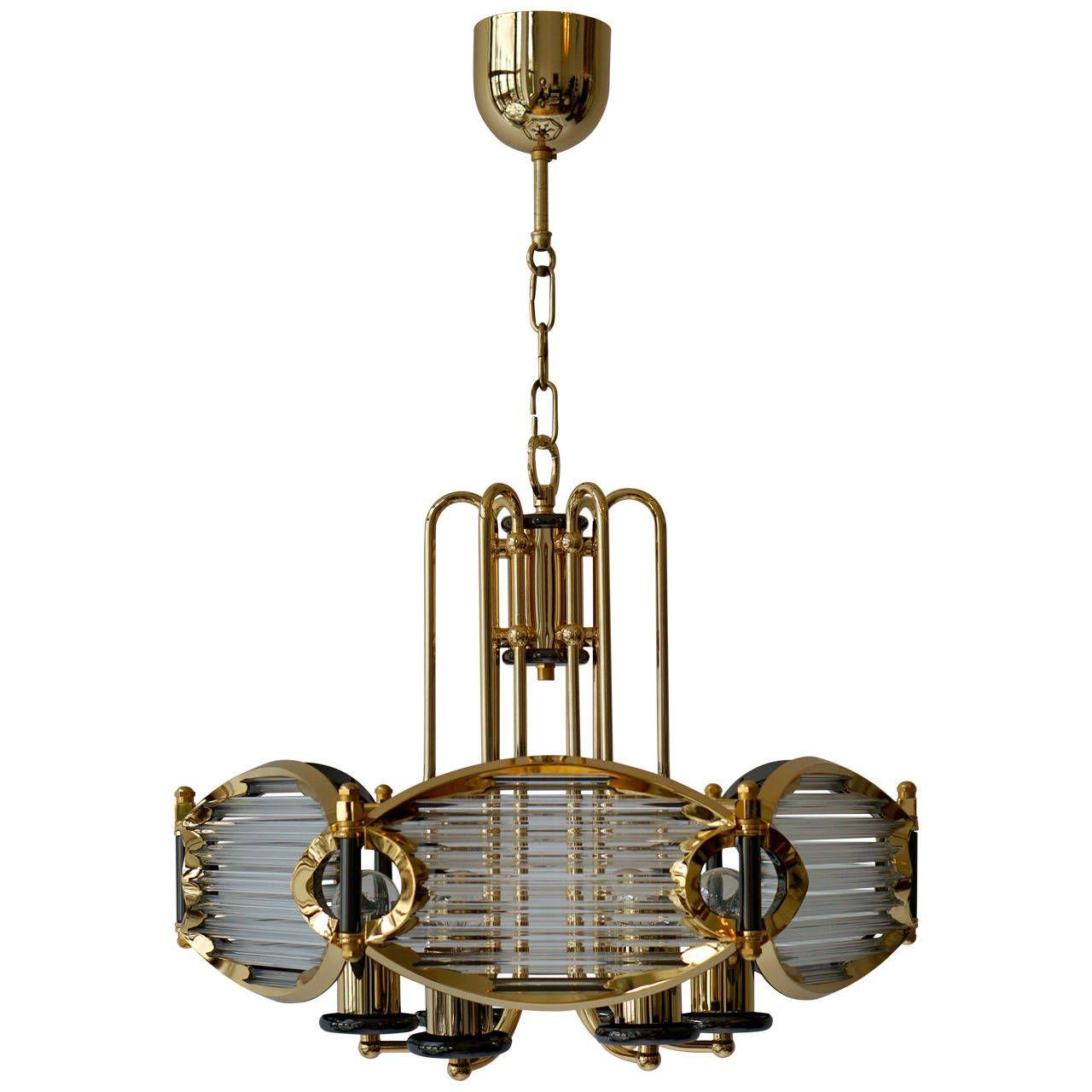 Bakalowits goldplated crystal chandelier pendant lighting