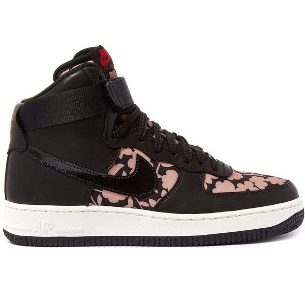 outlet store 8631a e92a7 Nike x Liberty Tan Cameo Print Air Force 1 Trainers ( 170) ❤ liked on  Polyvore featuring shoes, sneakers, tan leather shoes, ankle strap shoes,  ...